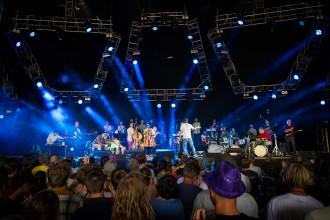 140705, Roskilde. Fire! Orchestra spelar på Avalon på Roskildefestivalen. FOTO: NORA LOREK/ROCKFOTO