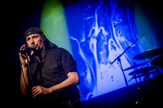 Laibach spelade i Sverige i mars.  Foto: Petter Hellman/Rockfoto