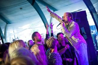Jonas Lundqvist spelar på Skankaloss i Gagnef, Dansbanan 2016-07-07. Foto: Elin Bryngelson/Rockfoto