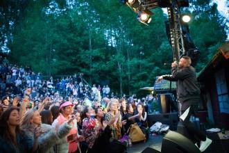 Erik Lundin spelar på Skankaloss i Gagnef, Amfi-scenen. 2016-07-08. Foto: Elin Bryngelson/Rockfoto