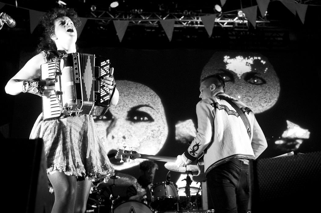 Arcade Fire var huvudpersoner 2011.  Petter Hellman fotade.