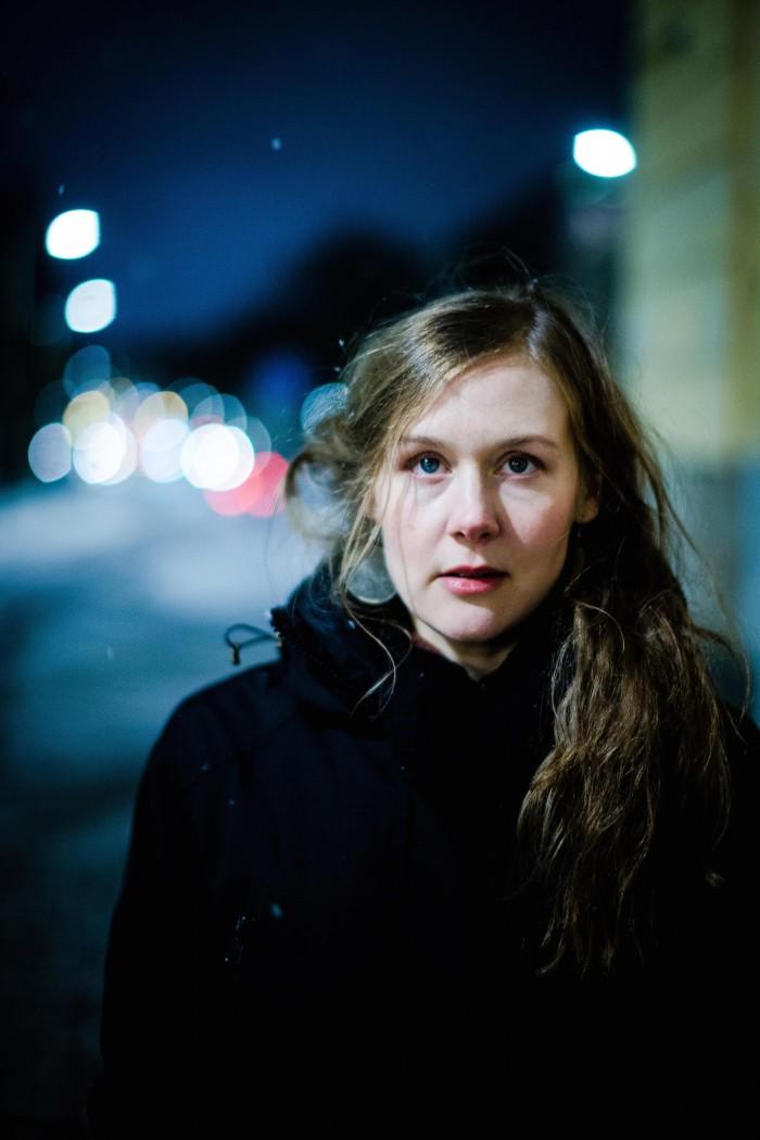 Elina Ryd var en av artisterna som spelade på Bengans. Foto: Samuel Isaksson